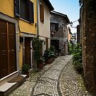 A Street in Gavigano Italy by Warren. A. Williams
