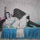 Raven Woman Reclining by Zelli