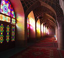 Pink Mosque, Shiraz by Gillian Anderson LAPS, AFIAP