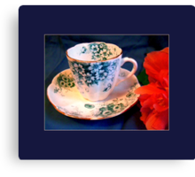 Demitasse, Floral Canvas Print