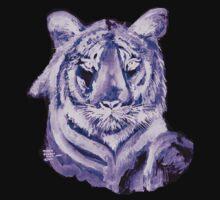 Purple tiger LIGHT   T SHIRT by Shoshonan