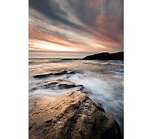 Trebarwith Sunset Photographic Print