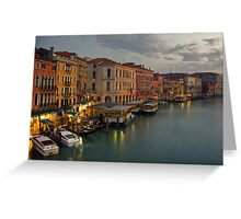 Evening lights in Venice Greeting Card