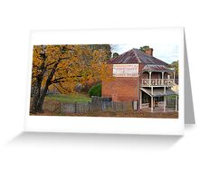 Robert Northey General Produce - Hill End NSW Australia Greeting Card