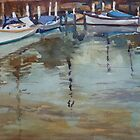 Boat Anchorage at Port Fairy, Victoria by Peter Johnson