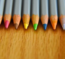 Color pencils waiting in line by InfotronTof