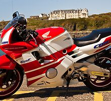 My Bike at PortPatrick by StevenF
