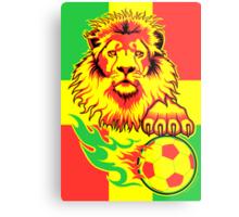 African Soccer Lion Poster Metal Print