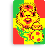 African Soccer Lion Poster Canvas Print