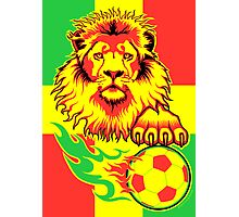 African Soccer Lion Poster Photographic Print