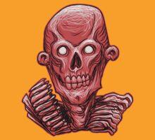 Zombie Skull Head Red by Rustyoldtown