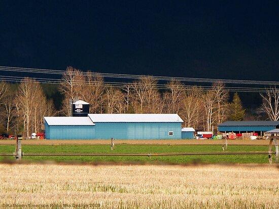 Stormy Montana Farm by rocamiadesign
