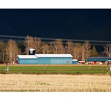 Stormy Montana Farm Photographic Print