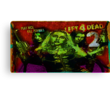 Play Nice, Kill Zombies Canvas Print