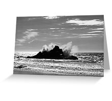 The Power Of The Sea Greeting Card