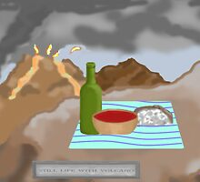 Still Life with Volcano by mordechai