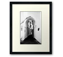 White washed walls in Barcelona Framed Print