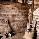 Inside a shed at Brickendon Farm, Longford by Elana Bailey