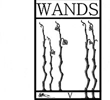 5 of Wands by Peter Simpson