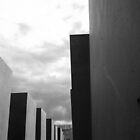 Holocaust Memorial - Berlin B/W by corder-courtier