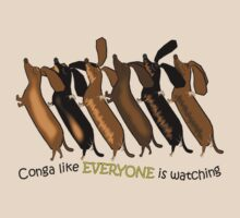 Doxie Conga Line by Diana-Lee Saville