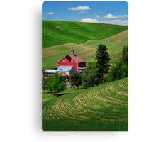 Palouse Red Barn Canvas Print