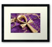 Ankh on Purple Framed Print