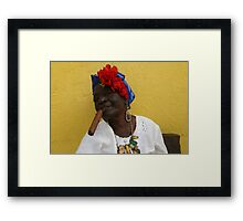 Cuban Woman with cigar Framed Print