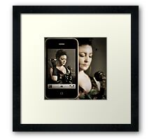 Me and my iphone Framed Print