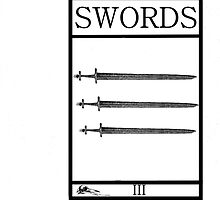 3 of Swords by Peter Simpson