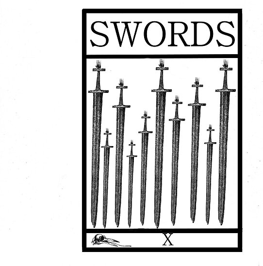 10 of Swords by Peter Simpson