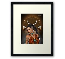 Spirit .. native indian Framed Print