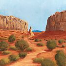Amazing Views ~ Southwest Landscape ~ Oil Painting by Barbara Applegate