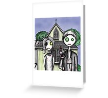 American Zombie Greeting Card