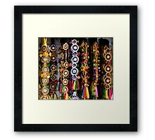 Gold silver bright coloured decorations 2008 Framed Print