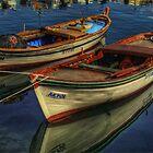 Barche a Karaburun by Andrea Rapisarda