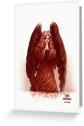 Angel of Prayer by Wieslaw Borkowski