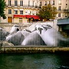 River Bank - Paris, France by Britland Tracy