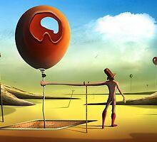 O Homem e os Balões. by Marcel Caram
