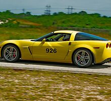 Yellow Corvette by caafephoto