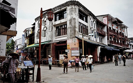 Yangshuo, China by Glennis  Siverson