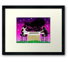 Double Kitty Score Framed Print