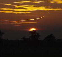 Sunset over Atcham, Shropshire by Matt Sillence