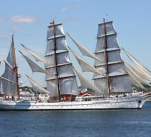 The Barque Sagres From Portugal by HALIFAXPHOTO