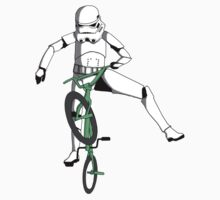 stormtrooper on a bike Kids Clothes