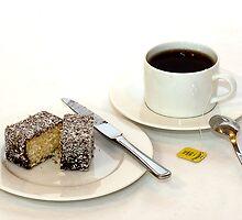 Morning tea & lamington by Scott  Dyer