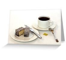 Morning tea & lamington Greeting Card