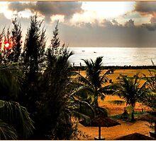 SUNSET ON NEGOMBO BEACH.SRI LANKA. by ronsaunders47