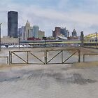 City of Pittsburgh from the Strip District by Robert Bowden