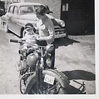 1936 Harley and 1950 Plymouth  by roserock